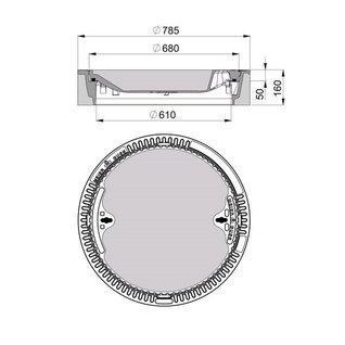 Schachtabdeckung Aluminium 300mm x 300 mm Bodenluke Schachtdeckel Revisionsschacht Kanalschacht