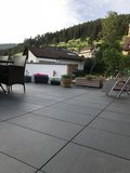 Braun Beton Terrassenplatte Fiamata 400x400x42 mm Nero Nr. 69