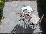 Braun Beton Terrassenplatte Fiamata 400x400x42 mm Stracciatella Nr. 62