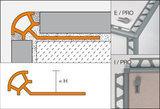 SCHLÜTER Rondec IE. I/PRO110BW brillantweiß, RAL 9003 H = 11 mm