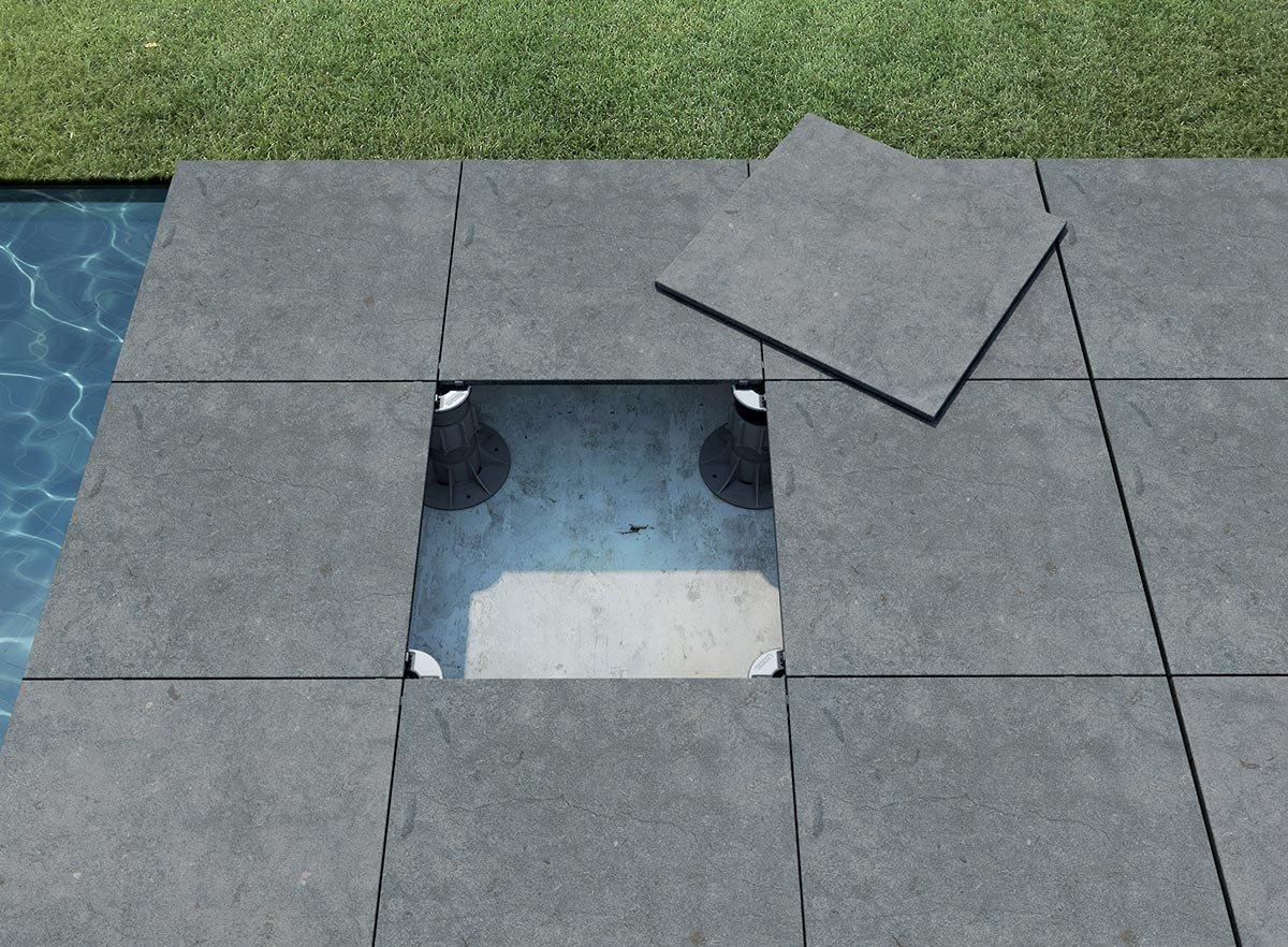 Fliesen Kemmler.   Bodenfliese Revo in der Farbe grau und im ...
