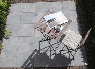Braun Beton Terrassenplatte Fiamata