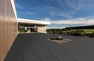 Braun Beton Terrassenplatte Trend Line