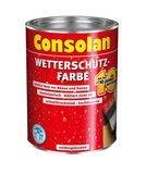 Consolan Wetterschutz Farbe 2,5 Liter Schwedenrot